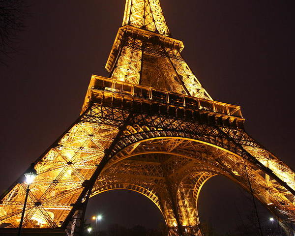 Antique Poster featuring the photograph Eiffel Tower - Paris France - 011314 by DC Photographer