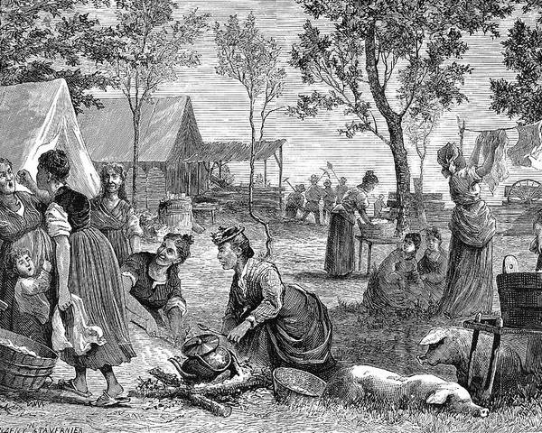 1874 Poster featuring the painting Emigrants Arkansas, 1874 by Granger