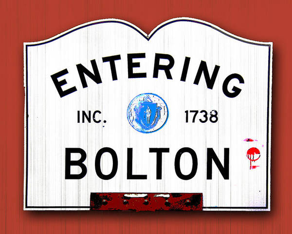 Bolton Poster featuring the photograph Entering Bolton by K Hines