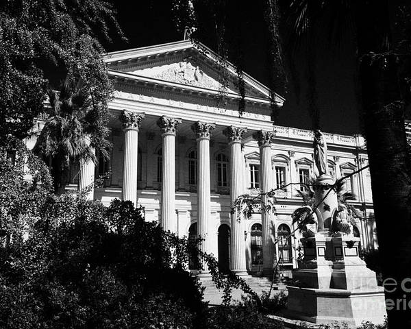 Former Poster featuring the photograph former national congress building Santiago Chile by Joe Fox