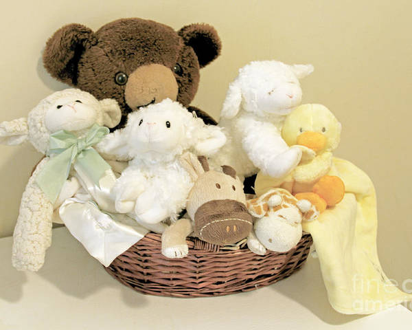 Stuffed Animals Poster featuring the photograph Friends by Rosemary Aubut