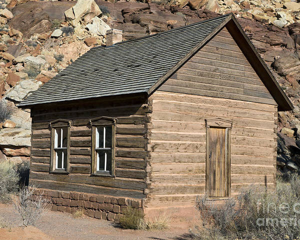 Capitol Reef Poster featuring the photograph Frutia Schoolhouse Capitol Reef National Park Utah by Jason O Watson