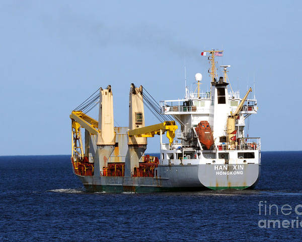 Ship Poster featuring the photograph Han Xin Ship by Lori Tordsen
