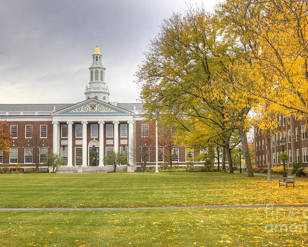 Boston Poster featuring the photograph Harvard University by Denis Tangney Jr