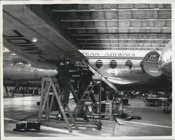 retro Images Archive Poster featuring the photograph Hew Bolts For Viscounts by Retro Images Archive