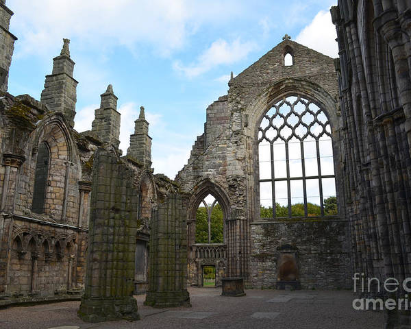 Holyrood Poster featuring the photograph Holyrood Abbey Ruins by DejaVu Designs