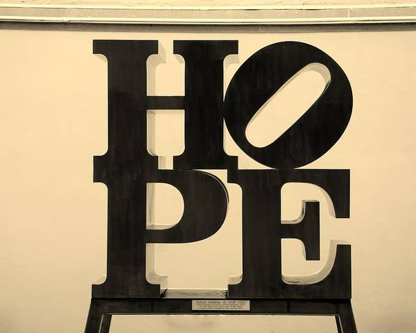 Hope Poster featuring the photograph Hope In Sepia by Rob Hans