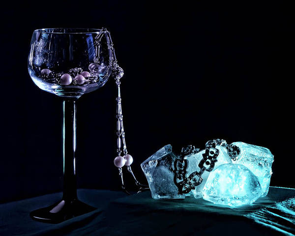 Goblet Poster featuring the photograph Ice by Camille Lopez