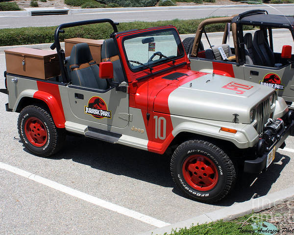 jurassic park jeeps postertommy anderson