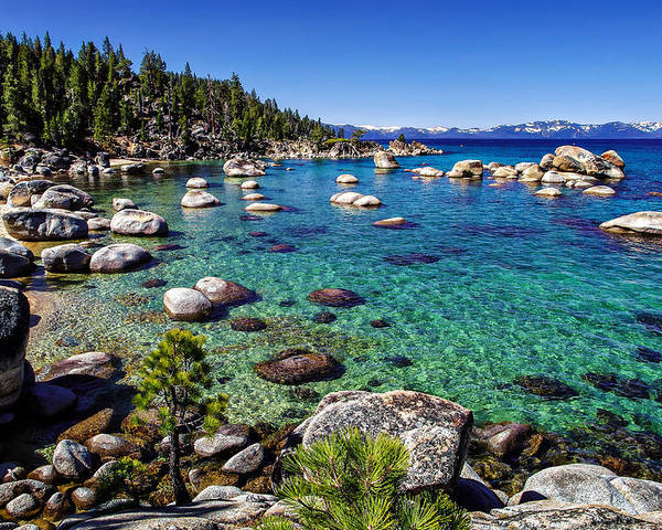 Blue Sky Poster featuring the photograph Lake Tahoe Waterscape by Scott McGuire