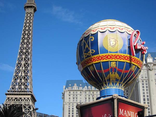 Las Poster featuring the photograph Las Vegas - Paris Casino - 12127 by DC Photographer
