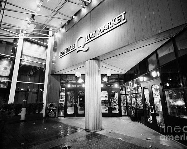 Lonsdale Poster featuring the photograph lonsdale quay market shopping mall north Vancouver BC Canada by Joe Fox