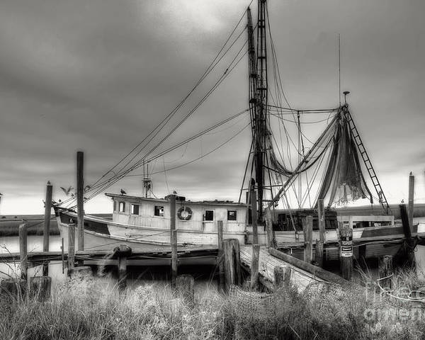 Shrimp Boat Poster featuring the photograph Lowcountry Shrimp Boat by Scott Hansen