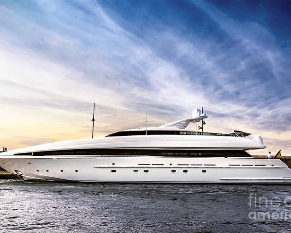 Yacht Poster featuring the photograph Luxury Yacht by Elena Elisseeva