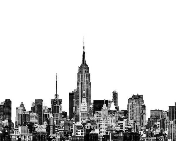 New York Canvas Poster featuring the photograph Manhattan Skyline by John Farnan