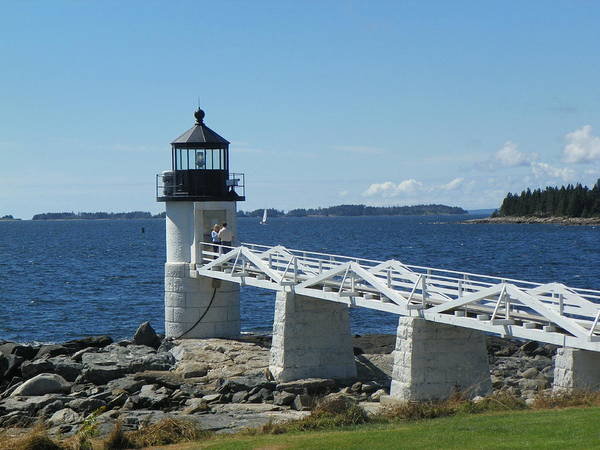 Marshall Point Lighthouse Lighthouses Maine Lighthouse Mid Coast Maine Port Clyde Maine New England Lighthouses Maine Travel Poster featuring the photograph Marshall Point Lighthouse by Joseph Rennie