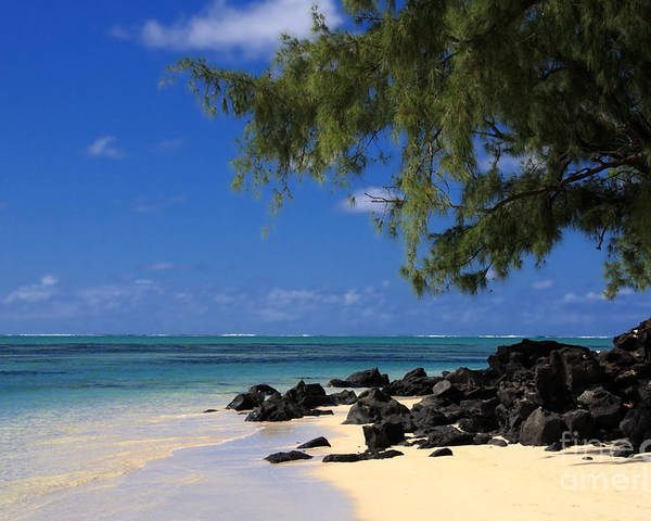 Mauritius Poster featuring the photograph Mauritius Blue Sea by IB Photography