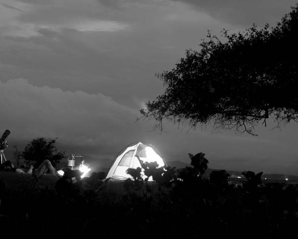 Horizontal Poster featuring the photograph Night Time Camp Site by Kantilal Patel