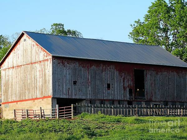 Barn Poster featuring the photograph Old Barn by Gena Weiser