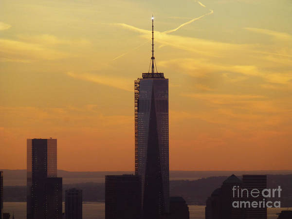 Rockefeller Center Poster featuring the photograph One Wtc From Top Of The Rock by Steven Spak