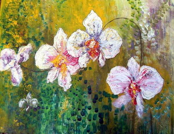 Poster featuring the painting Orchids by Carol P Kingsley