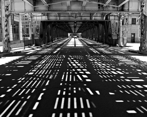 Chicago Poster featuring the photograph Patterns Of Light by Jeff Lewis