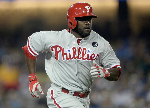 Tony Gwynn Jr. Poster featuring the photograph Philadelphia Phillies V Los Angeles by Harry How