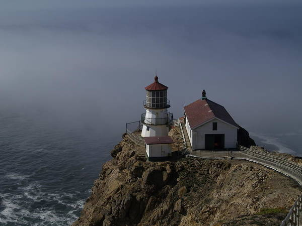 Pacific Ocean Poster featuring the photograph Pt Reyes Lighthouse by Bill Gallagher
