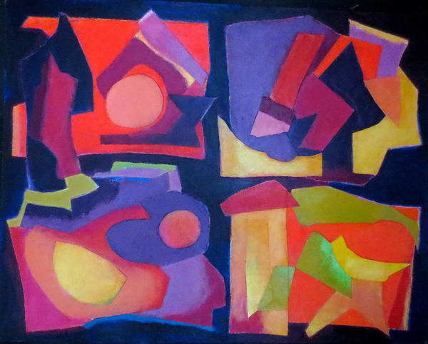Abstract Expressionism Poster featuring the mixed media Quartet by Diane Fine