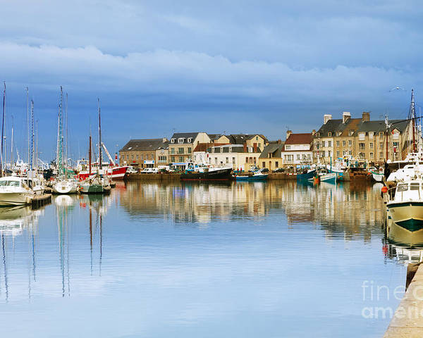 Calm Poster featuring the photograph Saint-vaast-la-hougue Normandy France by Colin and Linda McKie
