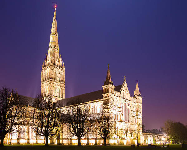 Salisbury Poster featuring the photograph Salisbury Cathedral by Ian Middleton