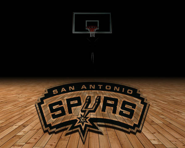 Spurs Poster featuring the photograph San Antonio Spurs by Joe Hamilton