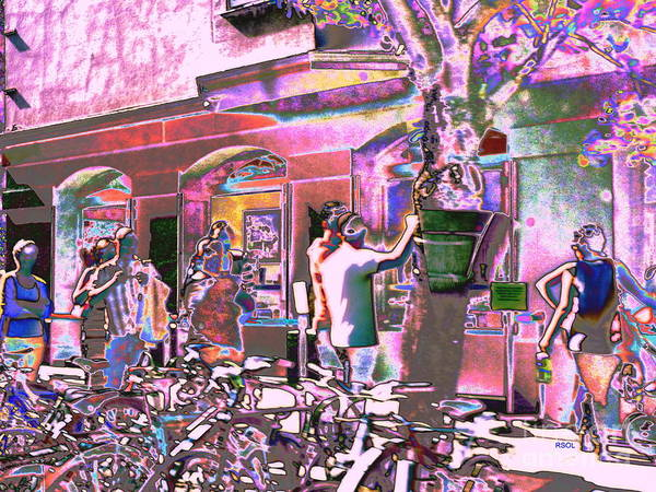 Greeting Card Poster featuring the digital art San Francisco Happy by Raphael OLeary
