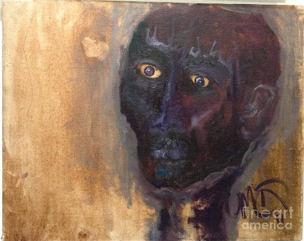 Shaman Poster featuring the painting Shaman by Michelle Dommer