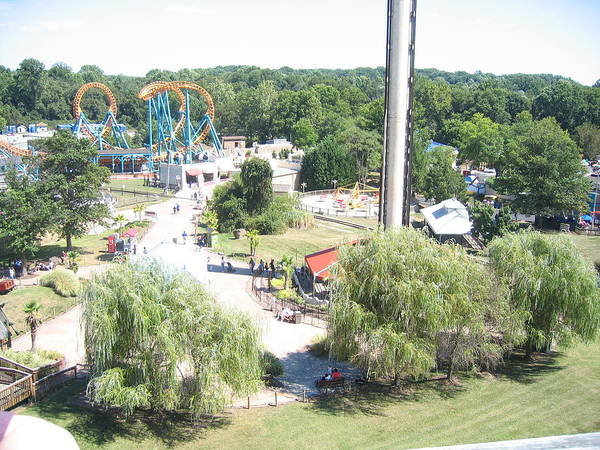 Six Poster featuring the photograph Six Flags America - 12121 by DC Photographer