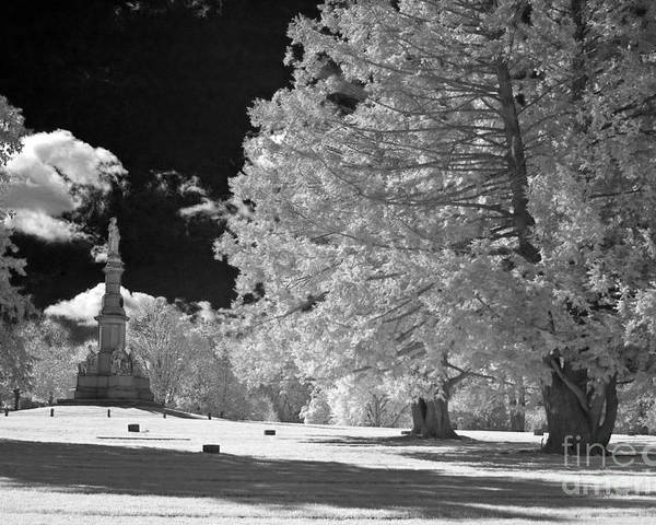 Infrared Poster featuring the photograph Soldiers National Cemetery - Gettysburg by Paul W Faust - Impressions of Light