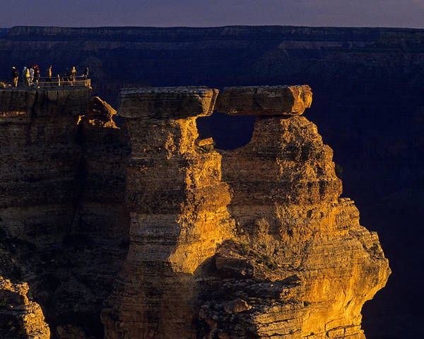 Grand Canyon National Park Poster featuring the photograph South Rim Grand Canyon Taken Near Mather Point Sunrise Light On by Jim Corwin