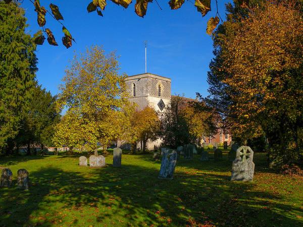 Autumn Poster featuring the photograph St Marys Church Kintbury by Mark Llewellyn