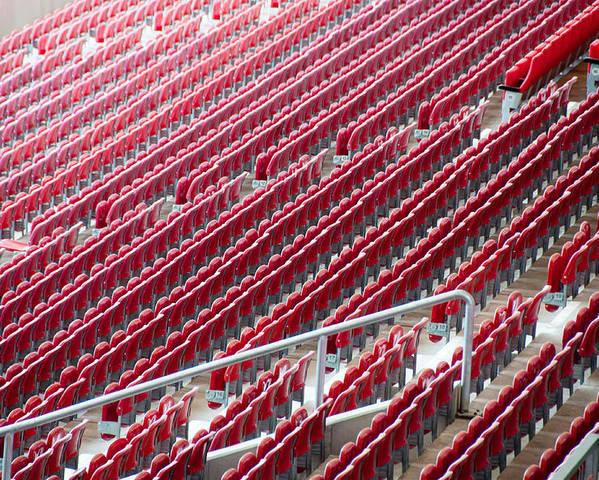 Stadium Poster featuring the photograph Stadium Seats by Frank Gaertner