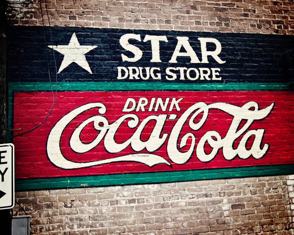 Sign Poster featuring the photograph Star Drug Store Wall Sign by Scott Pellegrin