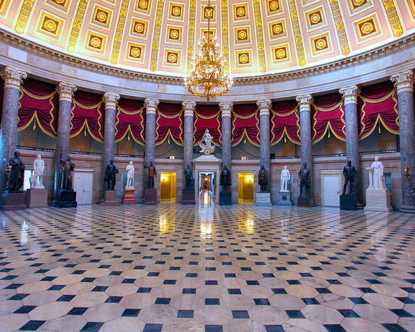 National Statuary Hall Poster featuring the photograph Statuary Hall by Mitch Cat