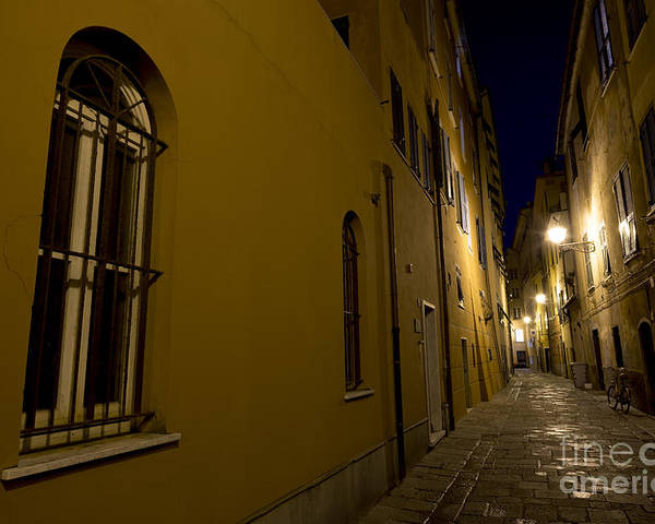Alley Poster featuring the photograph Street Alley By Night by Mats Silvan