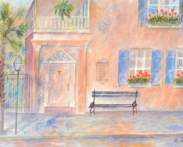 Charleston Poster featuring the painting Sunday Morning in Charleston by Ben Kiger