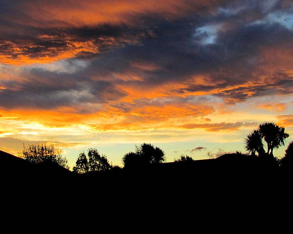 Sunset Poster featuring the photograph Sunset New Zealand by Joyce Woodhouse