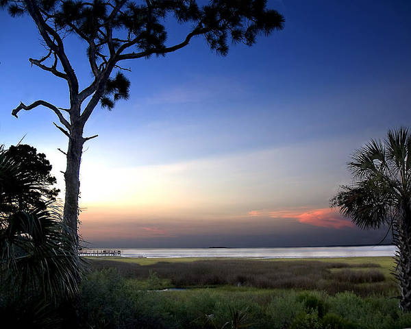 Sunset Poster featuring the photograph Sunset Over St. Joe Bay 2 by Norman Johnson