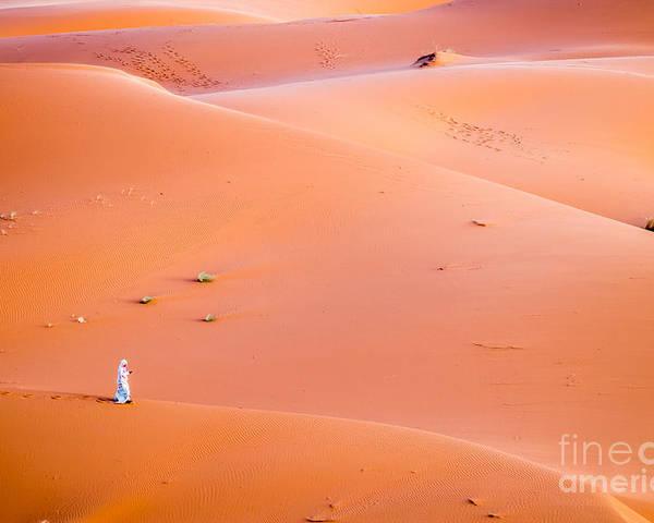 Sahara Poster featuring the photograph The Beautiful Silence Of The Sahara Desert by Sabino Parente
