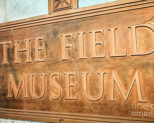 America Poster featuring the photograph The Field Museum Sign In Chicago Illinois by Paul Velgos