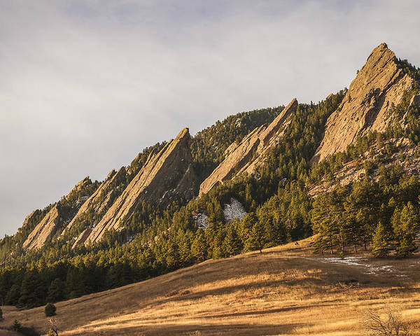 Flatirons Poster featuring the photograph The Flatirons 2 by Aaron Spong