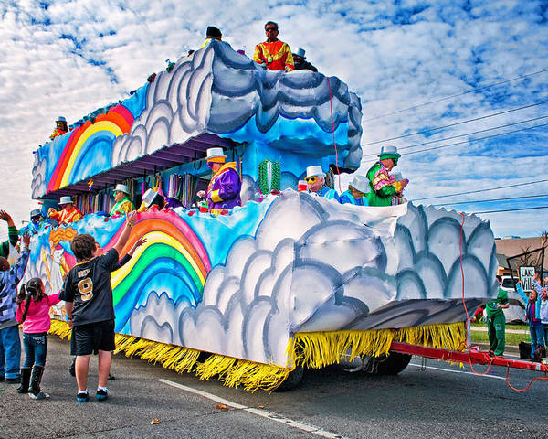Metairie Poster featuring the photograph The Spirit Of Mardi Gras by Steve Harrington