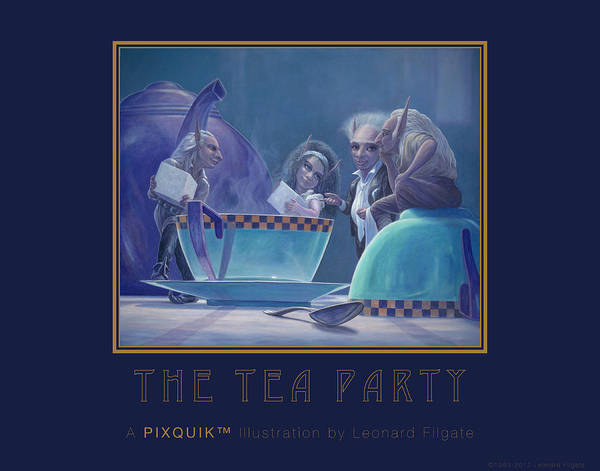 Filgate Poster featuring the painting The Tea Party by Leonard Filgate
